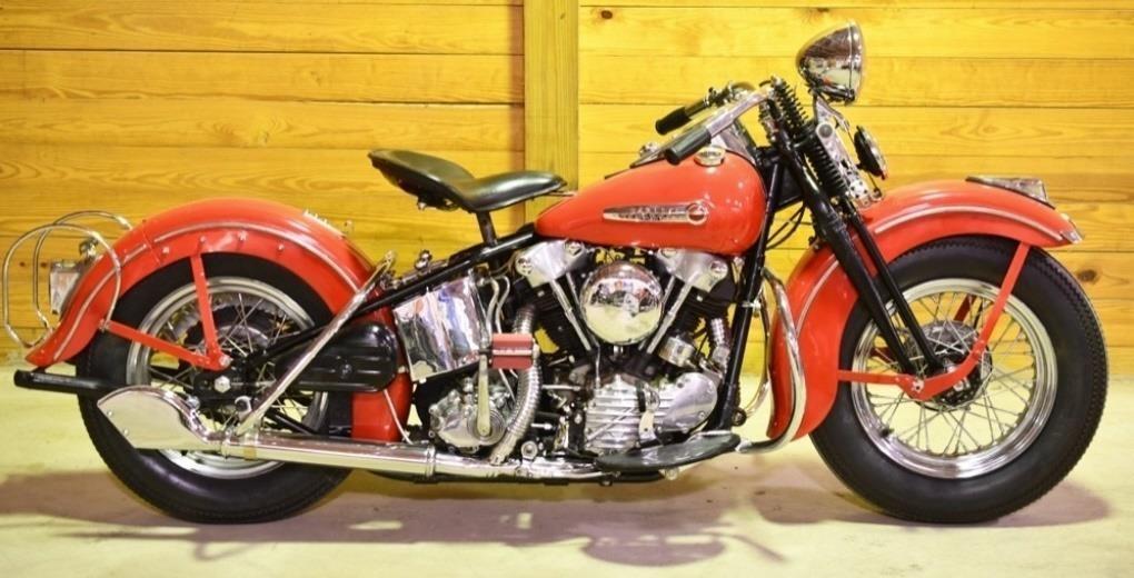 Restored 1947 Harley-Davidson FL Knucklehead