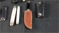 Variety lot of pocket knives