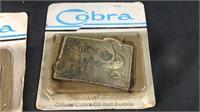Vintage official cobra CB belt buckles
