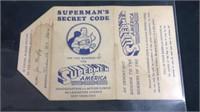 Rare superman's secret codes