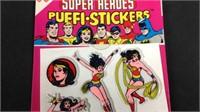 1981 wonder woman puffy stickers unopened