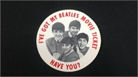 I've got my Beatles movie tickets sticker unused