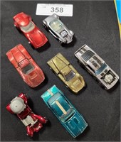 7 RED LINE HOT WHEELS CARS