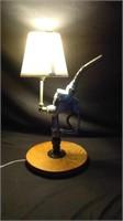 Vintage gas pump handle lamp
