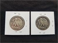 1936 & 1936 D Liberty Silver Half Dollars