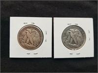 1945 & 1945 S Liberty Silver Half Dollars