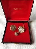 Golden Age AOE Owl Cufflinks Set
