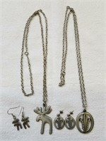 Tennesmed Sweden Necklace & Ear Ring Sets