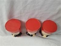 "Vintage Aunt Jemima Spice Shakers 4"" H"