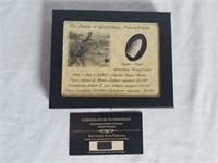 Civil War Gettysburg Pa Dug Bullet Display