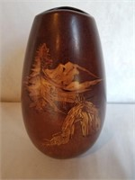 Teissedre Native American Signed Vase AZ
