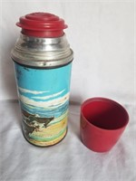 Roy Rogers & Dale Evans Metal Lunch Box w/ Thermos