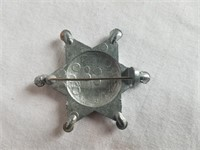 """Roy Rogers Metal Deputy Badge 1 & 3/4"""""""