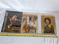 Roy Rogers & Dale Evans Vintage Calendar Prints