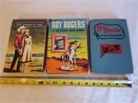 3 Roy Rogers Books 1 Lot