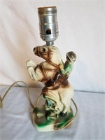 "Roy Rogers & Trigger Chalk Ware Lamp 11"" H"