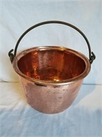 """Brass Kettle w/ Handle 11"""" H Including Handle"""