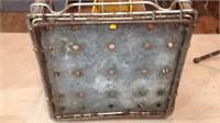 Vintage 13 x 13 x 11 Rowan Derry Metal Crate