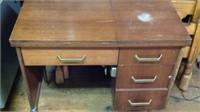 Vintage dress maker sewing machine and desk