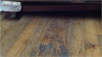 Large Antique Wooden crate with roller