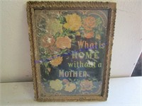 VINTAGE FLORAL WALL PICTURE