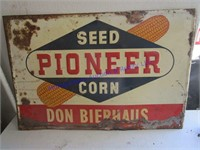 PIONEER SEED CORN SIGN