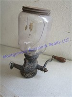 OLD STEAM IRON AND GRINDER OR DISPENSER