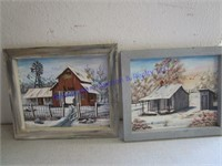 2 FRAMED FARM PHOTOS