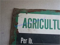 AMMONIA PRICING SIGN