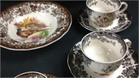 Lot Of Misc Royal Worcester Palissey China