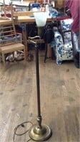 Vintage 55 inch floor lamp with glass cover