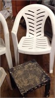 2 outdoor patio tables and side tables