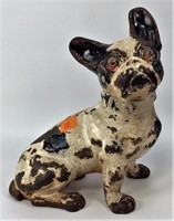 "Hubley French Bulldog, cast iron - 7"" long x 8"" ta"