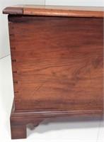 Walnut Blanket Chest, dovetailed case, bracket