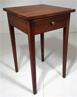 Walnut Bedside Table, hand made, tapered legs,