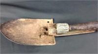 Vintage 29 inch fold up shovel