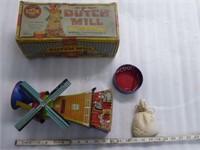 Tin Mac Toys Dutch Windmill sand toy - MIB - comes