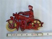 "Cast iron Hubley 7-1/4"" Harley-Davidson motorcycl"