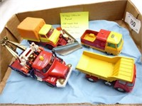 4 die cast Corgi trucks (made in England): Unimog