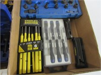 2 Trays of Tools in Cases