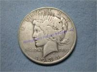 1934S PEACE DOLLAR