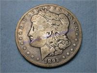 1892D MORGAN DOLLAR