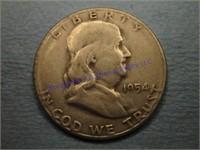 1954S FRANKLIN 1/2 DOLLAR