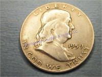 1959P FRANKLIN 1/2 DOLLAR