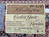 """Karastan Rug- 8'-3""""x 11'-7"""", Carter's Grove copy"""
