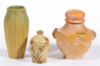 Selection of American art pottery, including Rookwood