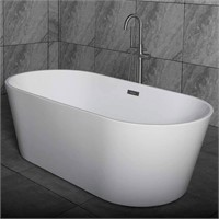 "67"" Freestanding Bathtub Contemporary Soaking Tub"