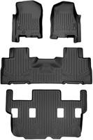 SMARTLINER Floor Mats 3 Row Liner Set Black