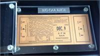 Super rare 1950 Darlington Raceway tickets