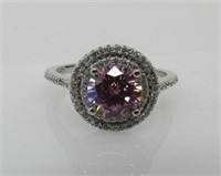 4.10 ct Pink Sapphire Ring